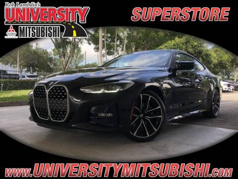 2021 BMW 4 Series for sale at University Mitsubishi in Davie FL