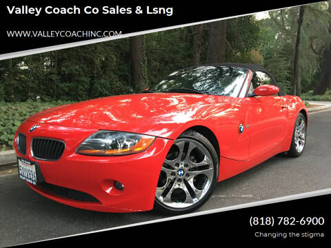 2004 BMW Z4 for sale at Valley Coach Co Sales & Lsng in Van Nuys CA