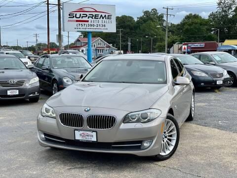 2012 BMW 5 Series for sale at Supreme Auto Sales in Chesapeake VA
