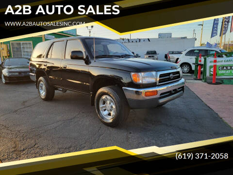 1998 Toyota 4Runner for sale at A2B AUTO SALES in Chula Vista CA