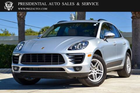 2018 Porsche Macan for sale at Presidential Auto  Sales & Service in Delray Beach FL