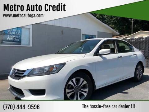 2015 Honda Accord for sale at Used Imports Auto - Metro Auto Credit in Smyrna GA