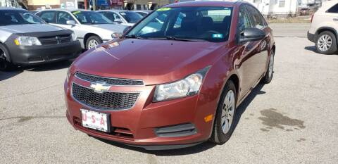 2012 Chevrolet Cruze for sale at Union Street Auto in Manchester NH