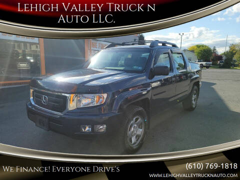 2011 Honda Ridgeline for sale at Lehigh Valley Truck n Auto LLC. in Schnecksville PA