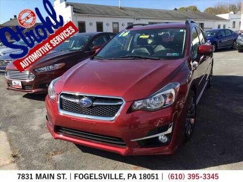 2016 Subaru Impreza for sale at Strohl Automotive Services in Fogelsville PA