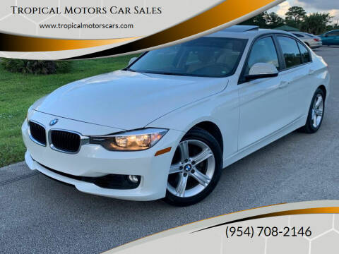 2013 BMW 3 Series for sale at Tropical Motors Car Sales in Deerfield Beach FL