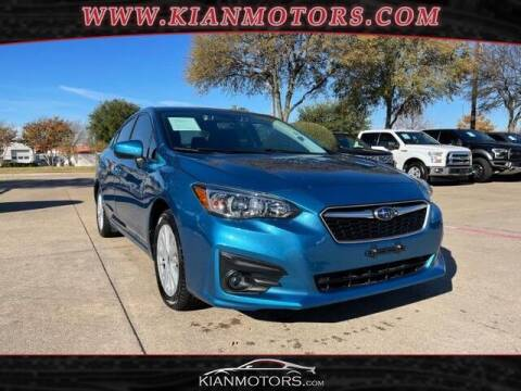 2018 Subaru Impreza for sale at KIAN MOTORS INC in Plano TX