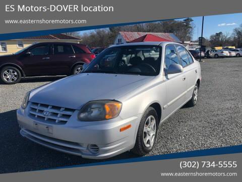 2003 Hyundai Accent for sale at ES Motors-DAGSBORO location - Dover in Dover DE