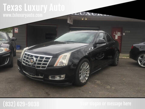 2013 Cadillac CTS for sale at Texas Luxury Auto in Houston TX