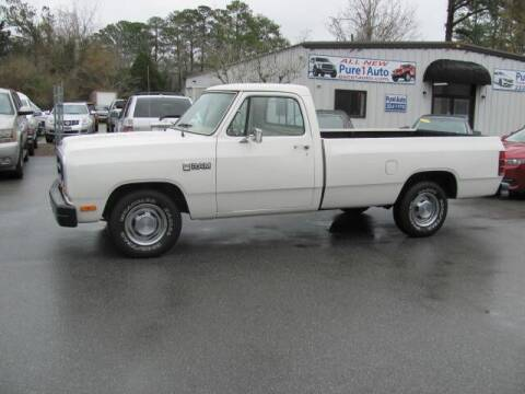 1987 Dodge RAM 150 for sale at Pure 1 Auto in New Bern NC