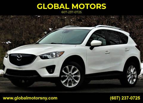 2014 Mazda CX-5 for sale at GLOBAL MOTORS in Binghamton NY