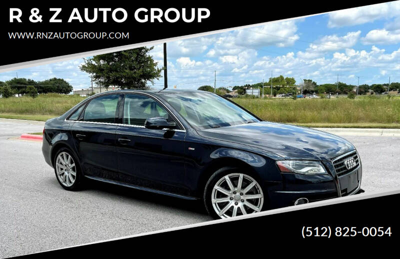 2012 Audi A4 for sale at R & Z AUTO GROUP in Austin TX