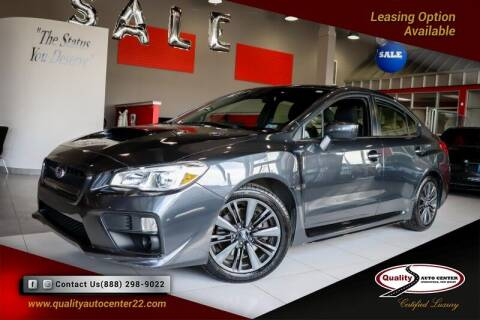 2016 Subaru WRX for sale at Quality Auto Center of Springfield in Springfield NJ