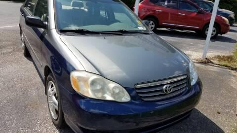 2003 Toyota Corolla for sale at GULF COAST MOTORS in Mobile AL