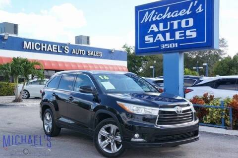 2016 Toyota Highlander for sale at Michael's Auto Sales Corp in Hollywood FL