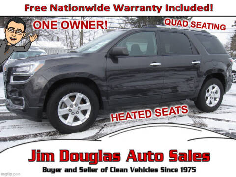 2016 GMC Acadia for sale at Jim Douglas Auto Sales in Pontiac MI