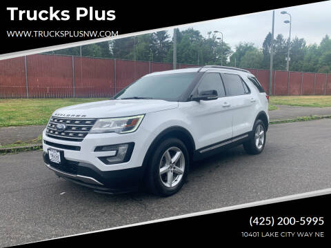 2016 Ford Explorer for sale at Trucks Plus in Seattle WA