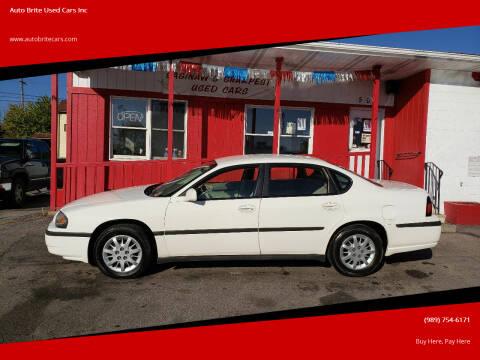 2005 Chevrolet Impala for sale at Auto Brite Used Cars Inc in Saginaw MI