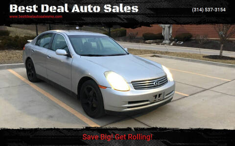 2003 Infiniti G35 for sale at Best Deal Auto Sales in Saint Charles MO