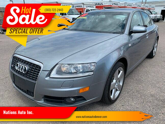 2008 Audi A6 for sale at Nations Auto Inc. in Denver CO