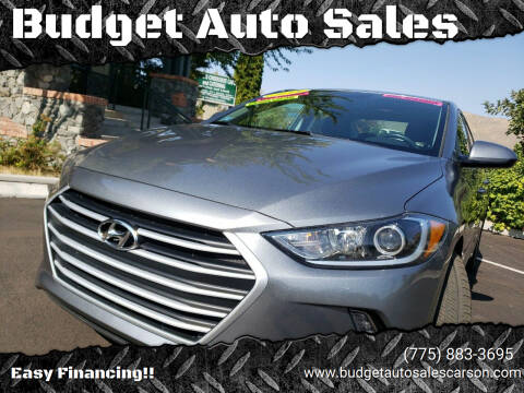 2018 Hyundai Elantra for sale at Budget Auto Sales in Carson City NV