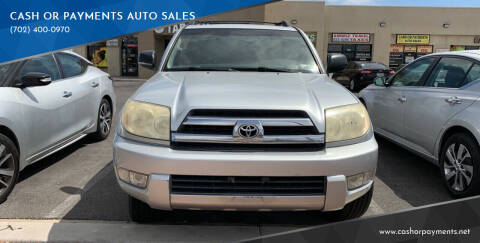 2005 Toyota 4Runner for sale at CASH OR PAYMENTS AUTO SALES in Las Vegas NV