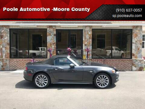 2018 FIAT 124 Spider for sale at Poole Automotive in Laurinburg NC