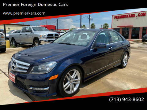 2013 Mercedes-Benz C-Class for sale at Premier Foreign Domestic Cars in Houston TX