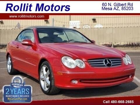 2005 Mercedes-Benz CLK for sale at Rollit Motors in Mesa AZ