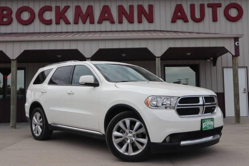 2012 Dodge Durango for sale at Bockmann Auto Sales in Saint Paul NE