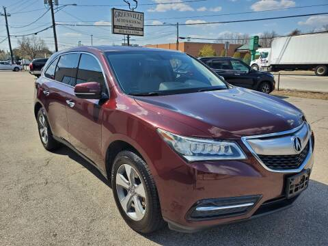 2014 Acura MDX for sale at Greenville Auto Sales in Warwick RI