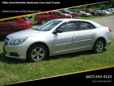 2013 Chevrolet Malibu for sale at Mike and Michelle Stolarcyk Cars and Trucks in Whitney Point NY