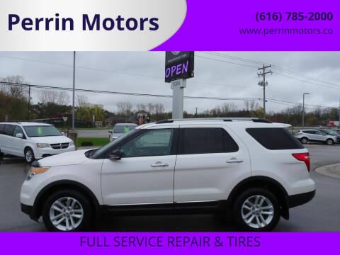 2013 Ford Explorer for sale at Perrin Motors in Comstock Park MI