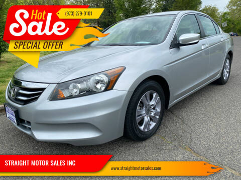 2012 Honda Accord for sale at STRAIGHT MOTOR SALES INC in Paterson NJ