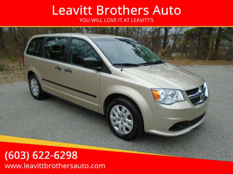 2014 Dodge Grand Caravan for sale at Leavitt Brothers Auto in Hooksett NH