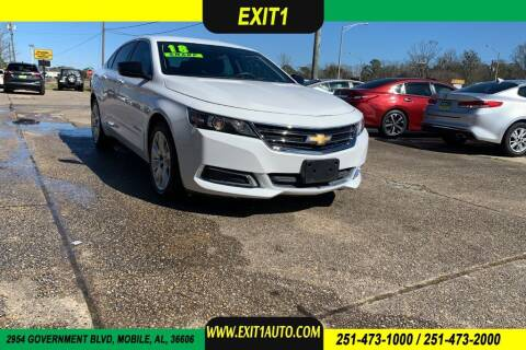 2018 Chevrolet Impala for sale at Exit 1 Auto in Mobile AL