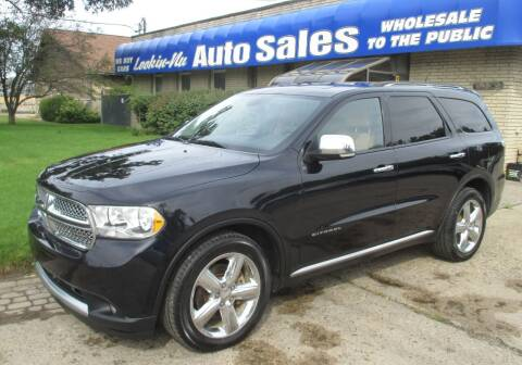 2011 Dodge Durango for sale at Lookin-Nu Auto Sales in Waterford MI