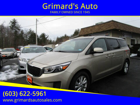 2017 Kia Sedona for sale at Grimard's Auto in Hooksett, NH