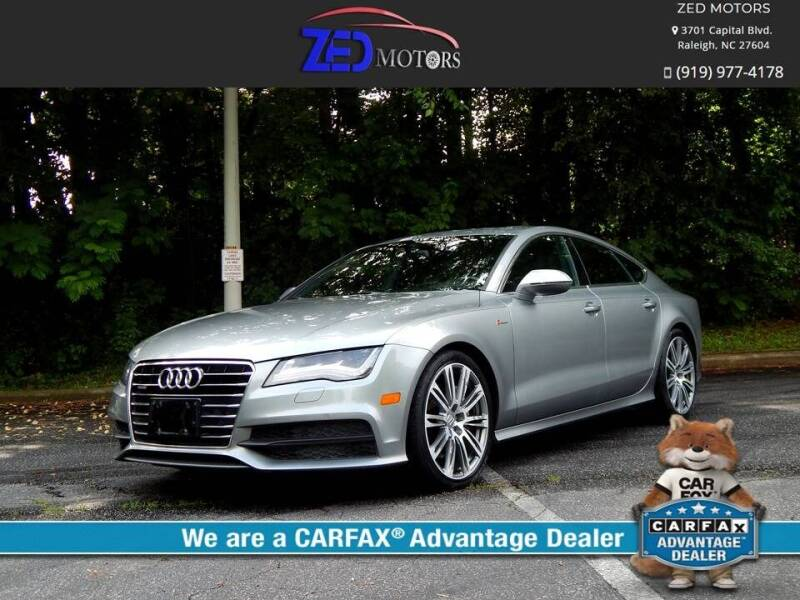 2012 Audi A7 for sale at Zed Motors in Raleigh NC