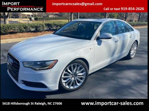 2013 Audi A6 for sale at Import Performance Sales in Raleigh NC