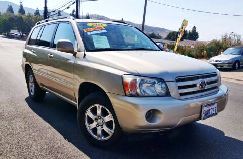 2006 Toyota Highlander for sale at Apollo Auto El Monte in El Monte CA