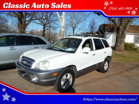 2005 Hyundai Santa Fe for sale at Classic Auto Sales in Maiden NC