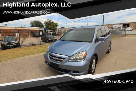 2007 Honda Odyssey for sale at Highland Autoplex, LLC in Dallas TX