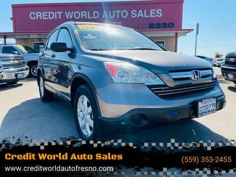 2009 Honda CR-V for sale at Credit World Auto Sales in Fresno CA