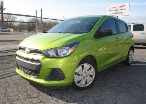 2016 Chevrolet Spark for sale at Lakepoint Autos in Cartersville GA