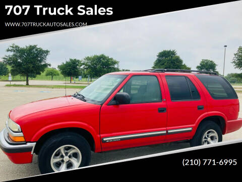 2000 Chevrolet Blazer for sale at 707 Truck Sales in San Antonio TX