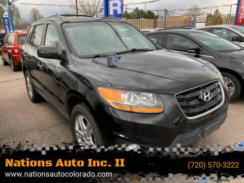2011 Hyundai Santa Fe for sale at Nations Auto Inc. II in Denver CO