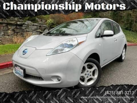 2011 Nissan LEAF for sale at Mudarri Motorsports - Championship Motors in Redmond WA