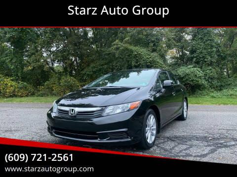 2012 Honda Civic for sale at Starz Auto Group in Delran NJ
