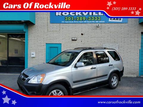 2004 Honda CR-V for sale at Cars Of Rockville in Rockville MD